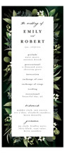 This is a green unique wedding program by Susan Moyal called Forest Finds with standard printing on signature in standard.