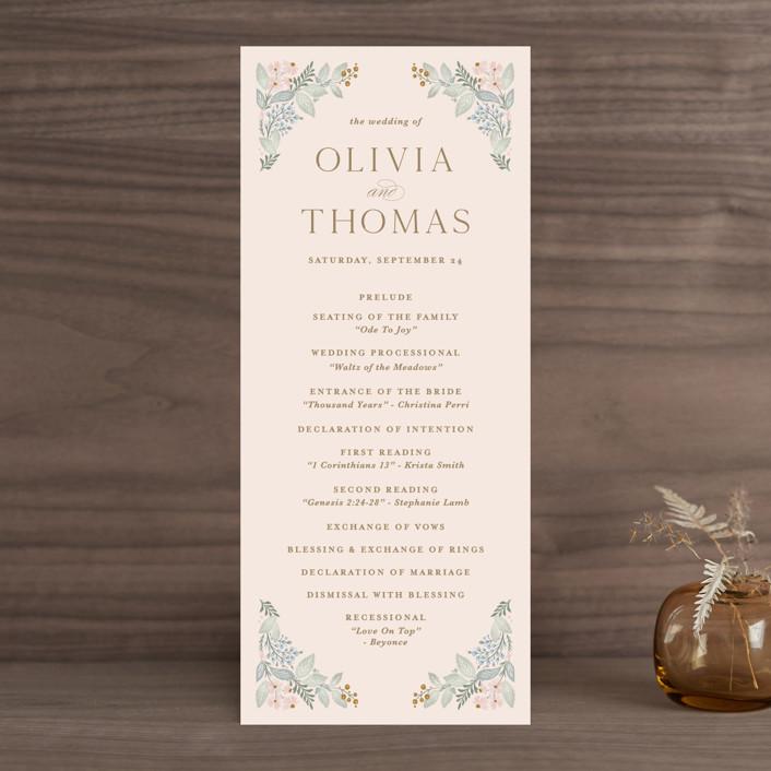 """Wild Flora"" - Wedding Programs in Blossom by Kristen Smith."