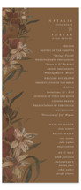 This is a brown unique wedding program by Grace Kreinbrink called Fall Garden Bouquet with standard printing on signature in standard.