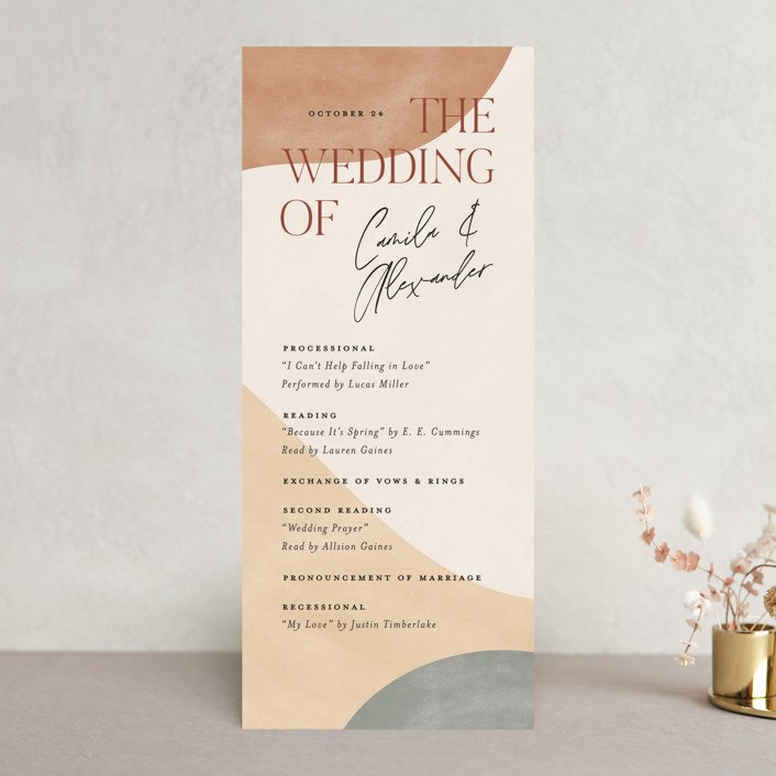 """""""Surface"""" - Modern Wedding Programs in West by Pixel and Hank."""
