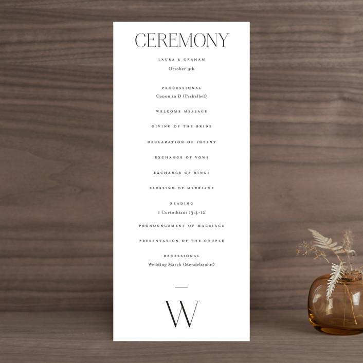 """conjoin"" - Wedding Programs in Pearl by Alethia Frye."