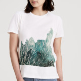 This is a white t shirts for woman by Kanika Mathur called Greenery.