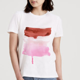 This is a white t shirts for woman by Lindsay Megahed called Neapolitan.