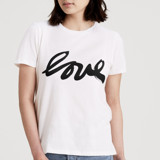 This is a white t shirts for woman by Deborah Velasquez called Real Love.