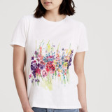 This is a white t shirts for woman by Lindsay Megahed called Wall Flowers.