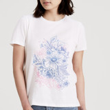 This is a white t shirts for woman by Alethea and Ruth called Floral Sketch.