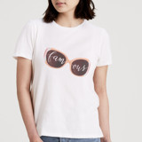 This is a white t shirts for woman by Gwen Bedat called Famous.