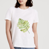 This is a white t shirts for woman by Amy Ngo called Ferns.
