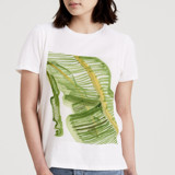 This is a white t shirts for woman by Bethania Lima called Leaves.