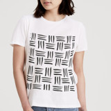 This is a white t shirts for woman by Keith Benedek called Brushstrokes.