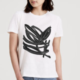 This is a white t shirts for woman by Deborah Velasquez called Abstract Ink.