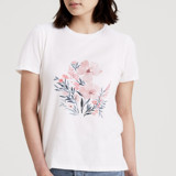 This is a white t shirts for woman by Qing Ji called Beautiful Floral.