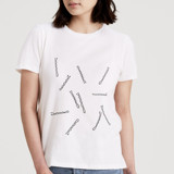 This is a white t shirts for woman by Catherine Culvenor called Bobby Pins.