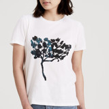 This is a white t shirts for woman by Deborah Velasquez called Spirit Tree.