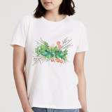 This is a white t shirts for woman by CaroleeXpressions called Sprigs, Twigs and Flowers.