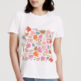 This is a white t shirts for woman by Jocelyn Proust called Can't Wait for Spring.