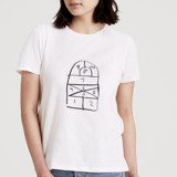 This is a white t shirts for woman by lulablu called Hopscotch.