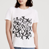 This is a white t shirts for woman by Tiffany Wong called Kisses.