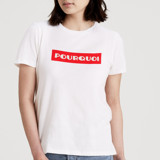 This is a white t shirts for woman by Jeremy called Pourquoi.