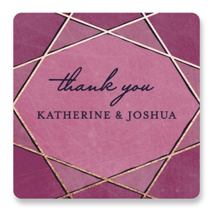 Abstract Jewel Wedding Favor Stickers