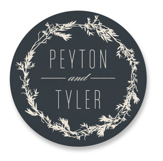 Intertwined Wedding Favor Stickers
