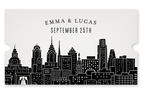 Big City - Philadelphia Wedding Favor Stickers