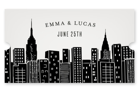 Big City - New York City Wedding Favor Stickers