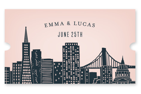 Big City - San Francisco Wedding Favor Stickers