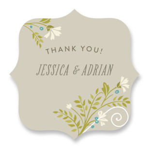 Delicate Blooms Wedding Favor Stickers