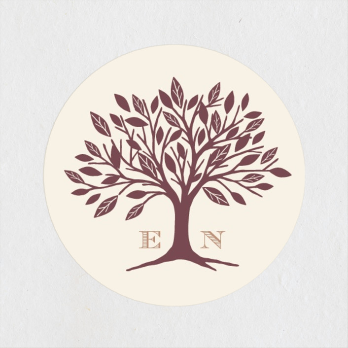 """""""Enchanted"""" - Rustic Wedding Favor Stickers in Bark by Griffinbell Paper Co.."""