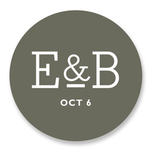 Established Wedding Favor Stickers
