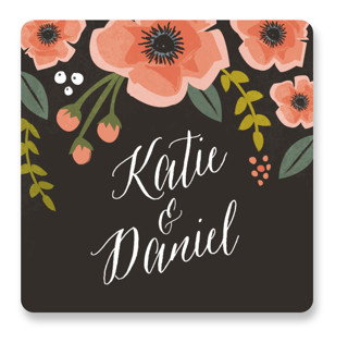 Garden Blooms Wedding Favor Stickers