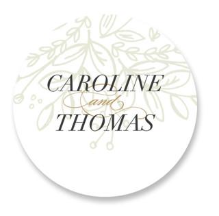Graceful Wedding Favor Stickers