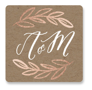Hidden Branches Wedding Favor Stickers