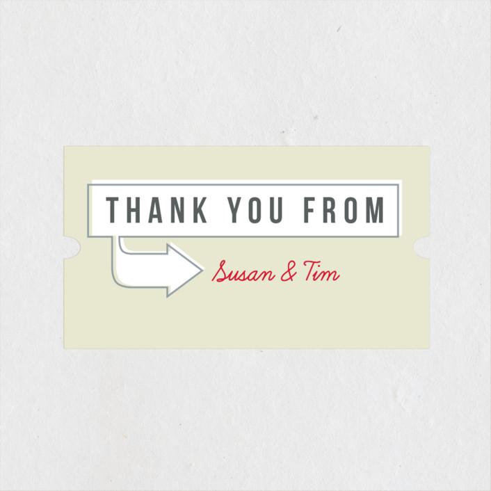 """""""Invitation-O-Matic"""" - Wedding Favor Stickers in Cream by Erin Pescetto."""
