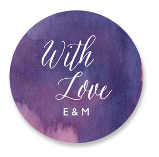 Mulberry Wedding Favor Stickers