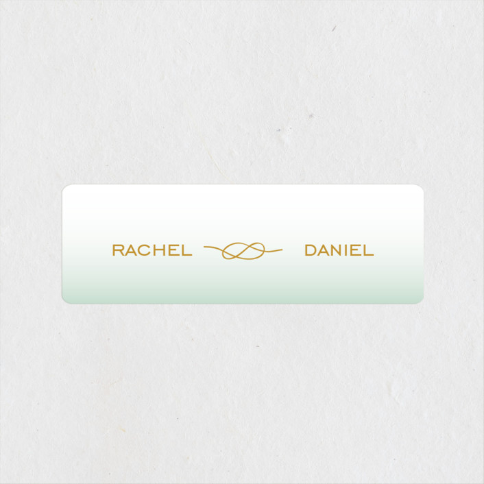"""""""Simple Knot"""" - Wedding Favor Stickers in Mint by SimpleTe Design."""