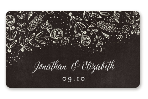 The Wedding Bouquet Wedding Favor Stickers