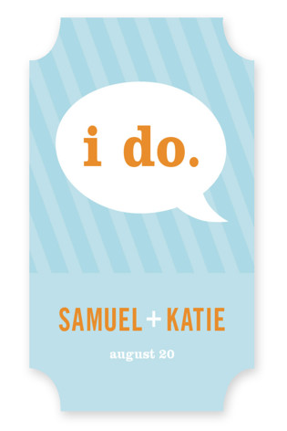 Smart Conversation Wedding Favor Stickers