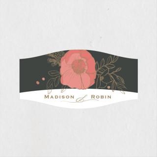 Floral Sprigs Wedding Favor Stickers