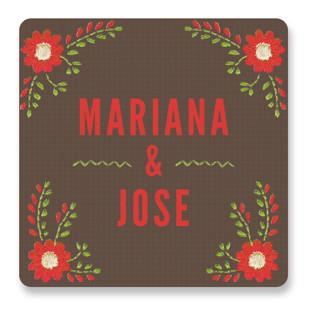 Mexican Ties Wedding Favor Stickers