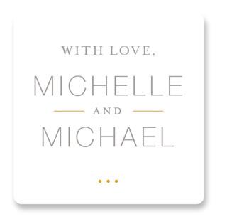 Baseline Wedding Favor Stickers