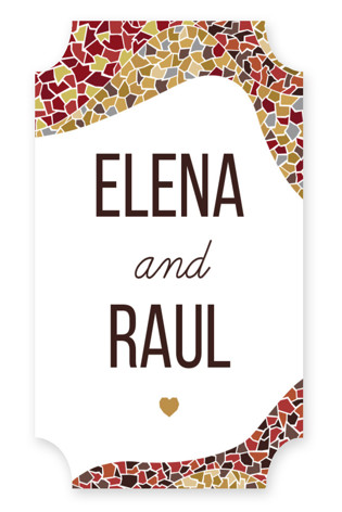 Espana Wedding Favor Stickers