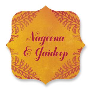 Anand Karaj Wedding Favor Stickers