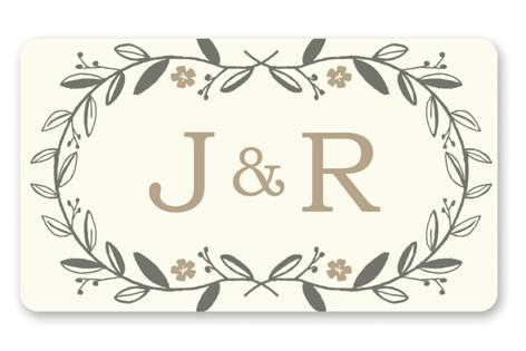 Garland Wedding Favor Stickers