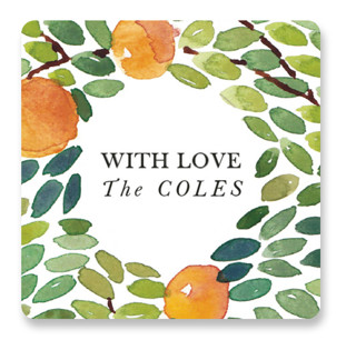 Orangerie Wedding Favor Stickers