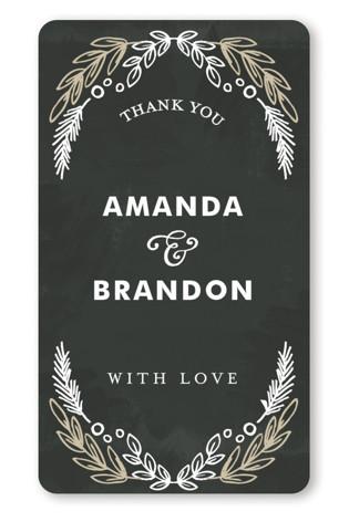 Chalkboard Wedding Favor Stickers