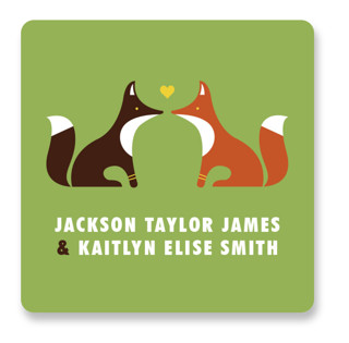 Woodland Wedding Favor Stickers