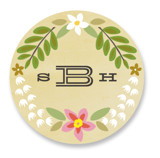 Wisteria Wedding Favor Stickers