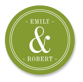 Wed in Type Wedding Favor Stickers